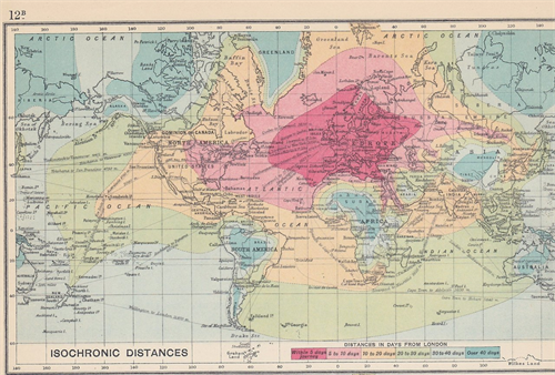Isochronic Map 1914